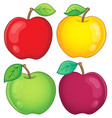 various apples collection 2 vector image vector image