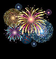 vibrant with color fireworks vector image vector image
