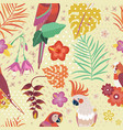 vintage hawaiian parrots pattern or aloha print vector image vector image