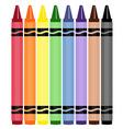 wax crayons vector image vector image