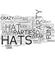 why party hats are great news for partygoers text vector image vector image