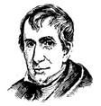william henry harrison vintage vector image vector image
