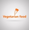 with icon for vegetarian food vector image vector image