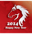 year horse happy new year 2014 vector image vector image