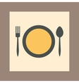 tableware icon vector image
