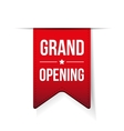 Grand Opening red ribbon vector image