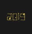 2019 golden numbers vector image vector image