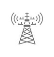 5g internet tower telecommunications tower vector image