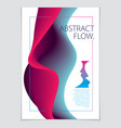 abstract flow fluid background a4 print vector image vector image