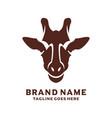 african giraffe head logo design vector image vector image