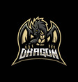 angry dragon for gaming vector image