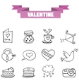 art of valentine element with hand draw vector image vector image