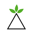 Balance of nature- Environmental logo vector image vector image