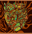 bizarre surreal tribal colorful shaman face with vector image