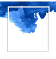 blue watercolor stain banner vector image vector image