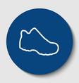 boot sign white contour icon in dark vector image