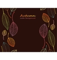 border frame of colorful autumn leaves vector image vector image