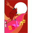 Bowling poster template vector image vector image