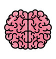 brain top view in colored crayon silhouette with vector image vector image