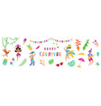 brazil carnival festive banner with dancing people vector image vector image