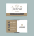 business card with logo for photographer vector image vector image