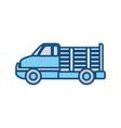 cargo suv vehicle vector image