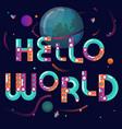 cartoon constructor alphabet globe poster vector image