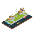 City Wireless Communication Isometric Composition vector image