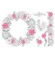 cute floral elements for design cards vector image vector image