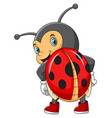 cute lady bug with good posing vector image