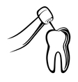 Dentist drill vector image vector image