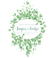 festive oval frame wedding invitation greeting vector image vector image