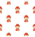 Fireman icon cartoon pattern silhouette fire vector image vector image