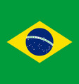flag of brazil in national colors vector image