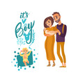 flat adult couple infant it s a boy vector image