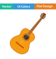 Flat design icon of acoustic guitar vector image