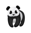flat design of cute little panda black and vector image vector image