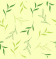 floral seamless pattern with tea leaves vector image vector image