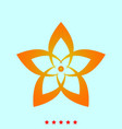 flower it is icon vector image vector image