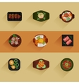 Food Korean food icon vector image vector image