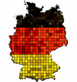 germany map grunge mosaic vector image