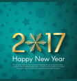 golden new year 2017 concept on turquoise vintage vector image vector image