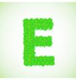 grass letter E vector image
