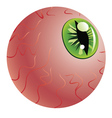 Green Eye of a Monster vector image