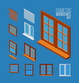 isometric windows set vector image vector image