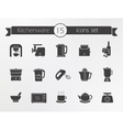 Kitchenware silhouette icons set vector image vector image