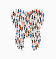 large group people in shape a tooth vector image vector image