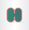 letter h green icon design vector image vector image