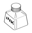 line drawing of ink bottle -simple line vector image vector image