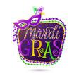 Mardi Gras holiday greeting vector image vector image